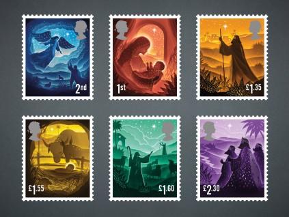 英国皇家邮政2019圣诞邮票:以剪纸再现圣经故事