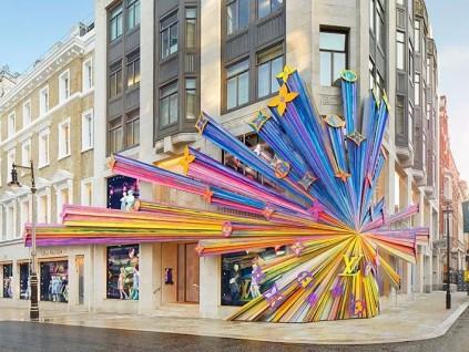伦敦街头乍现LV华丽门店!历时14个月改造完成!