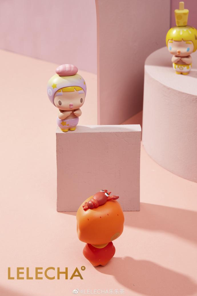 乐乐茶推出萌系盲盒,你见过顶着麻辣龙虾包的公仔嘛?
