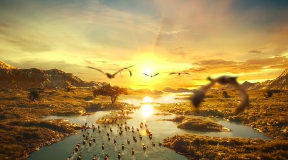 农夫山泉金鼠水暖心动画,全场景虚拟拍摄!