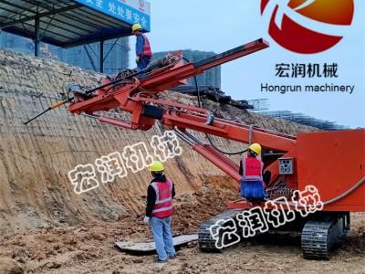 厂家直销基坑边坡支护锚固钻机 履带式深坑打桩机 锚固钻机