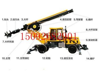 厂家供应轮式旋挖钻机 机锁杆旋挖钻机 液压旋挖钻机厂家直销