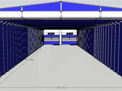 环保伸缩移动喷漆房 内部结构图组成详解