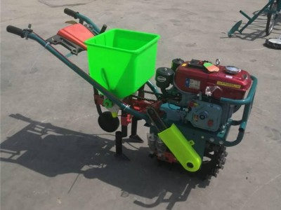 小型手扶自走式耘播机 多功能施肥开沟一体机 链轨式耘播机