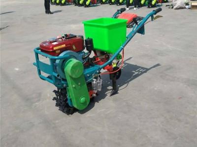 梯田小地块耘地除草机 链轨式播种施肥机 手扶自走式耕地除草机