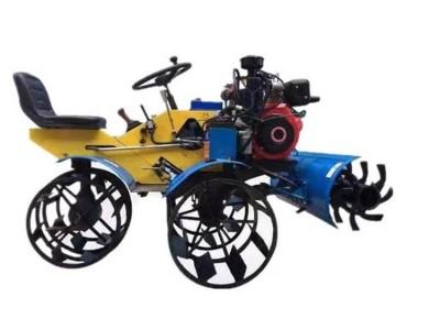 水田微耕机 小型旋耕打浆耕耘机 四驱柴油水田打浆机