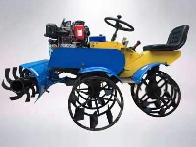 柴油水田耕地打浆机 四驱微耕打田机 乘坐式水田打浆机
